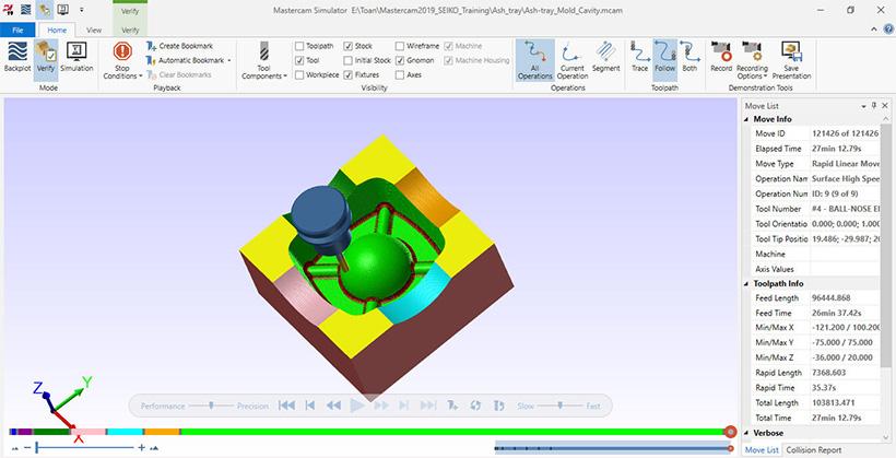 Khóa học gia công phay 3D trên phần mềm Mastercam Mill 3D